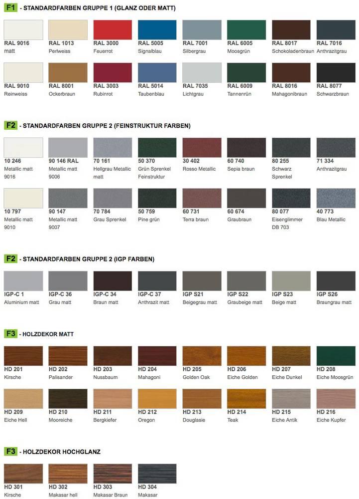Farbauswahl für Haustüren