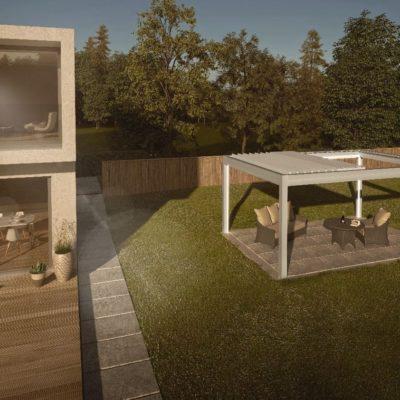 Lamellendach für Garten